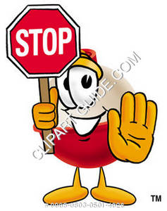 Cartoon Bobber Stop Sign
