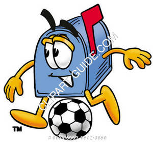 Cartoon Mailbox Soccer
