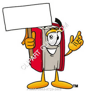Illustration of Cartoon Book Character Holding a Sign
