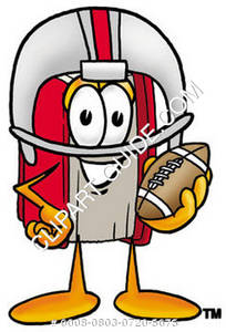 Illustration of Cartoon Book Character Wearing Football Gear