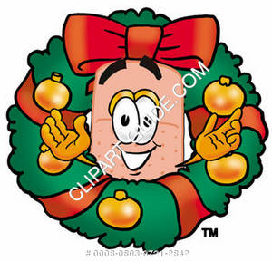 Band Aid Character in a Wreath