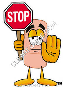 Band Aid Character Using a Stop Sign