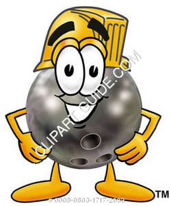 Cartoon Bowling Ball Construction