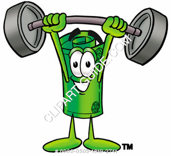 Cartoon Money Character Lifting Weights
