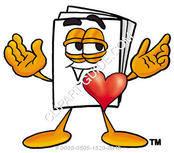 Cartoon Paper Character In Love