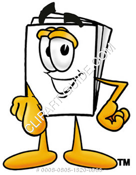 Cartoon Paper Character Pointing