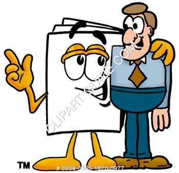 Cartoon Paper Character With A Man
