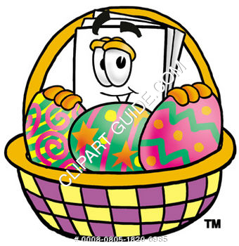 Cartoon Paper Character Easter Basket