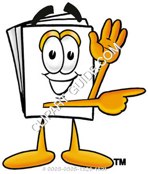 Cartoon Paper Character Waving
