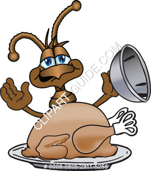 Cartoon Clipart Ant With Thanksgiving Turkey