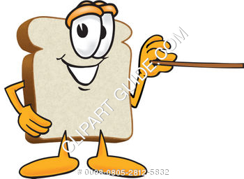 Cartoon Clipart Bread With Pointer