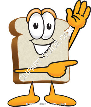 Cartoon Clipart Bread Pointing