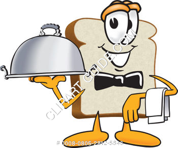 Cartoon Clipart Bread Server