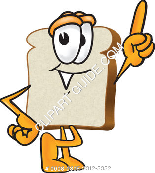 Cartoon Clipart Bread Pointing Up