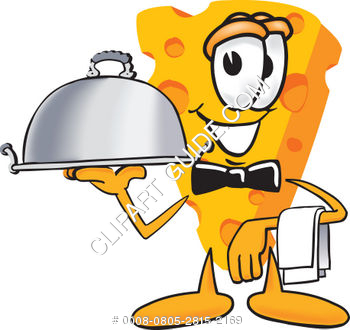 Cartoon Cheese Server