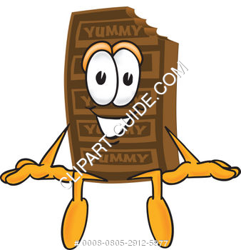 Cartoon Chocolate Bar Sitting