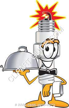 Cartoon Spark Plug Server