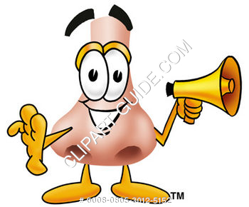 Cartoon Nose Holding Megaphone