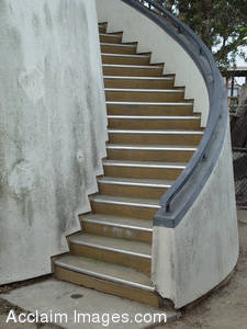 Stock Photo of Spiral Stairs