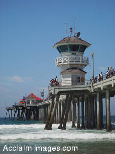 Stock Photo of The Huntington Beach Pier