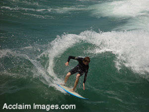 Stock Photography of a Surfer