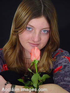 Stock Photography of a Girl With Rose
