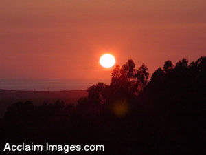 Stock Photography of a Sunset