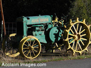 Stock Photo of a John Deere Tractor