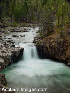 Stock Image of a Waterfall on the McCloud River, Mt. Shasta, Ca