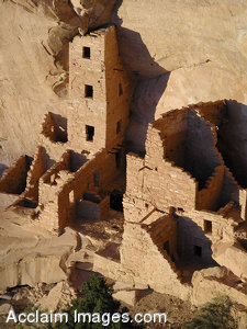 Free Stock Photo of Mesa Verde National Park's Square Tower House