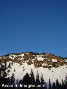 Stock Photo of Oregons Mt. Mazama