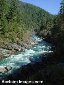 Stock Photo of the Smith River in California
