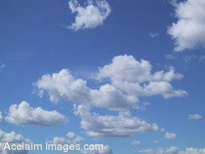 Stock Photo of White Clouds in a Blue Sky