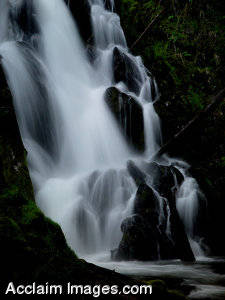 Stock Photo of One of Southern Oregons Waterfalls