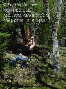 Picture of Girl Swinging
