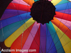 Stock Photo of a Colorful Hot Air Balloon