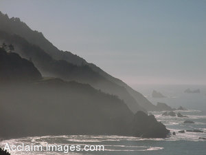 Stock Clipart  Photograph of Cliffs on the Northern California Coast