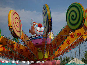 Stock Picture of a Ride at a Carnival