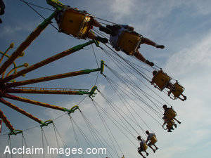 Stock Photo of a Carnival Ride