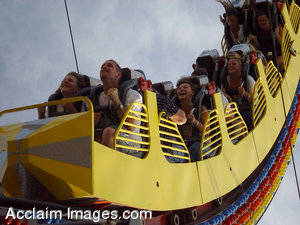 Stock Picture of  People on a Carnival Ride