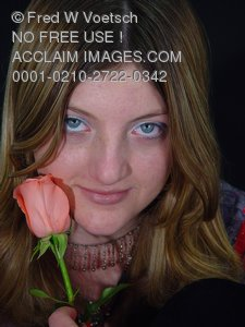 Girl With a Rose Pictures, Photos and Photographs