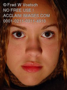 Photos of Women; Portrait of a Pretty Teenage Girl