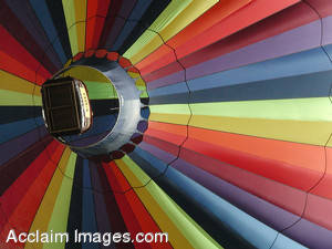 Stock Image of a Colorful Hot Air Balloon