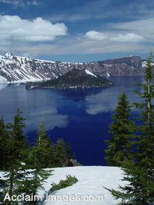 Stock Photo of Wizard Island, Crater Lake