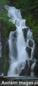 Stock Photo of a Panoramic View of National Creek Falls