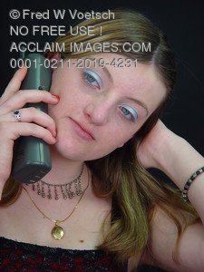 Teenage Girl On Phone Photos, Pictures and Photographs