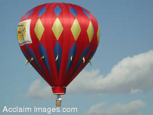 Stock Photo of a Hot Air Balloon in Flight