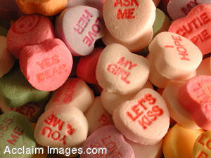 Stock Image of Candy Valentine Hearts