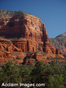 Free Stock Clip Art Photo of a Red Rock Formations in Sedona, Arizona