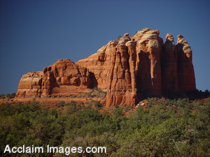 Free Stock Clip Art Photo of Red Rock of Arizona